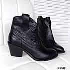 Женские зимние ботинки казаки черного цвета, натуральная кожа(в наличии и под заказ 7-16дней), фото 5