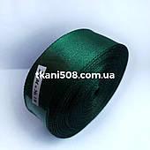 Атласная лента 2,5 cм -  темно-зеленый 18