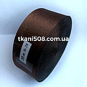 Атласная лента 2,5 cм -  темно-коричневый
