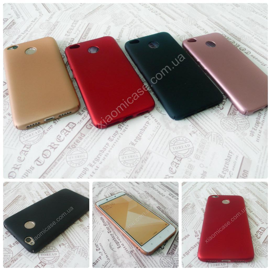 Пластиковый чехол Fox накладка бампер для Xiaomi (Ксиоми) RedMi 4X (золото и черный)