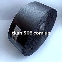 Атласная лента 2,5 cм - цвет темно-серый