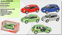 "Машина металл ""KINSMART"" KT5079W (96шт/4) ""Peugeot 307 XSI"", в коробке 16*8*7,5см"