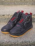 Кроссовки - 😜 Мужские форсы NIKE зимние черные с красными шнурками, фото 4