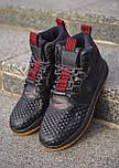 Кроссовки - 😜 Мужские форсы NIKE зимние черные с красными шнурками, фото 2