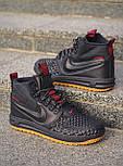 Кроссовки - 😜 Мужские форсы NIKE зимние черные с красными шнурками, фото 3