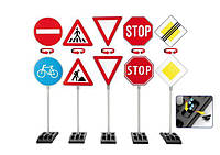Klein 2996 Дорожные знаки большой набор 5 шт. 70 см., фото 1