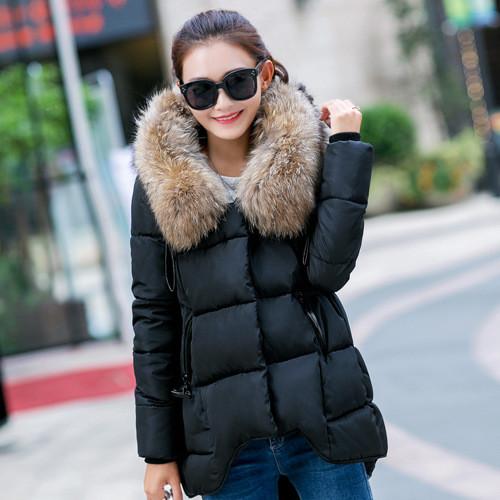Куртка зимова жіноча коротка, чорний пуховик CC-6553-10