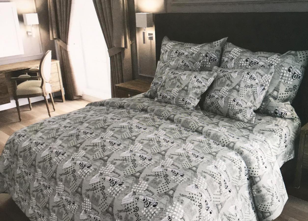 Двуспальный комплект постельного белья евро 200*220 хлопок  (13071) TM KRISPOL Украина
