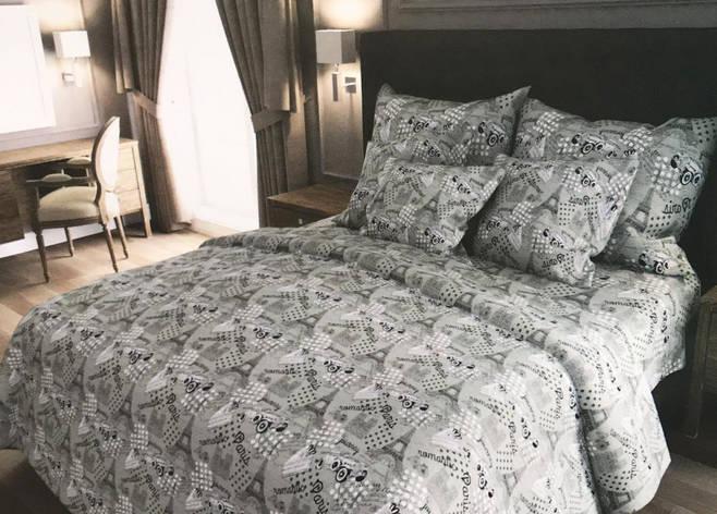 Двуспальный комплект постельного белья евро 200*220 хлопок  (13071) TM KRISPOL Украина, фото 2