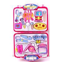 Доктор 969-61 (36шт/3) стетоскоп,очки,шприц,ножницы,градусник…в чемоданчике 51*30*4см
