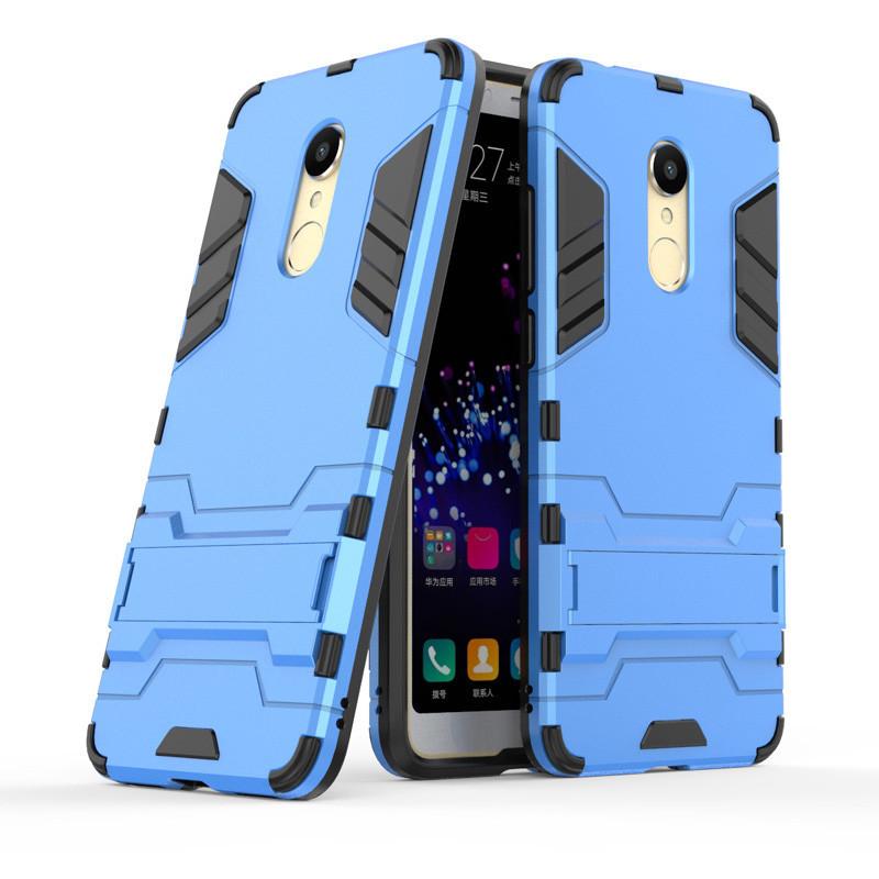 PC + TPU Metal Armor чехол для Xiaomi (Ксиоми) Redmi 5 Plus (Голубой)