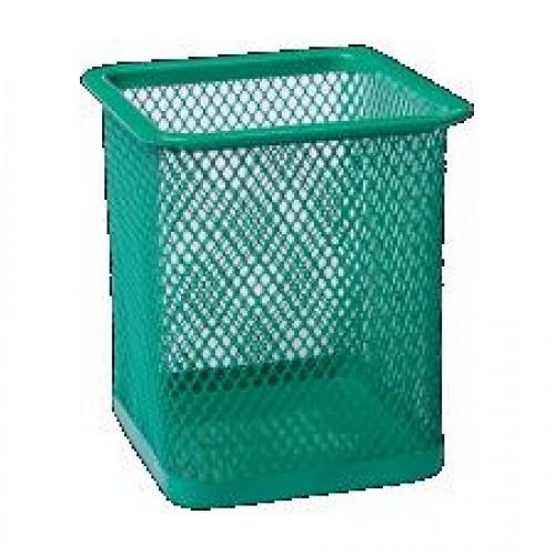 Стакан BUROMAX 6201-04 канц. металлический квадратный 80х80х95мм зеленый (1/12/96)