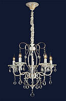 Люстра классическая свеча&755MO85004-5 WT+FGD