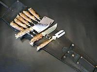 """Оригинальный подарок мужчине - набор для шашлыка """"Robin Hood"""", в закрытом колчане из кожи"""