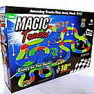 Светящаяся дорога Magic Tracks 360 деталей Меджик трек 2 машинки джип внедорожник, фото 2
