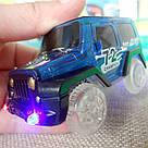 Светящаяся дорога Magic Tracks 360 деталей Меджик трек 2 машинки джип внедорожник, фото 7