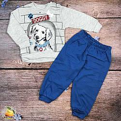 Костюмчик с собачкой для маленького мальчика Размеры: 6,9,12,18 месяцев (9384-2)