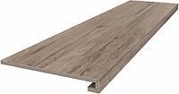 Керамическая плитка Ступень клееная Про Вуд беж темный 33х119,5х11 DL501500R\GCF