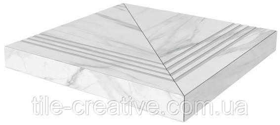 Керамическая плитка Ступень Монте Тиберио лаппатированный угловая универсальная клееная SG507102R\GCA