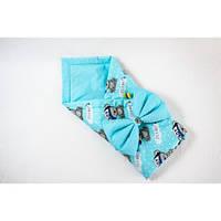Демисезонный конверт-одеяло на выписку BabySoon Мишка в кепке