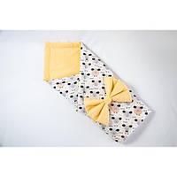 Демисезонный конверт-одеяло на выписку BabySoon Персиковые барашки