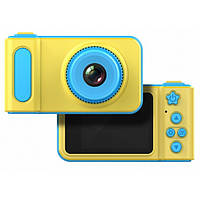 🔝 Детский цифровой фотоаппарат Summer Vacation Cam 3 mp фотоаппарат для ребенка, жёлто-голубой | 🚚, фото 1
