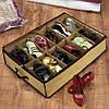 Компактный органайзер для хранения обуви Shoes under server   сумка для обуви, фото 5