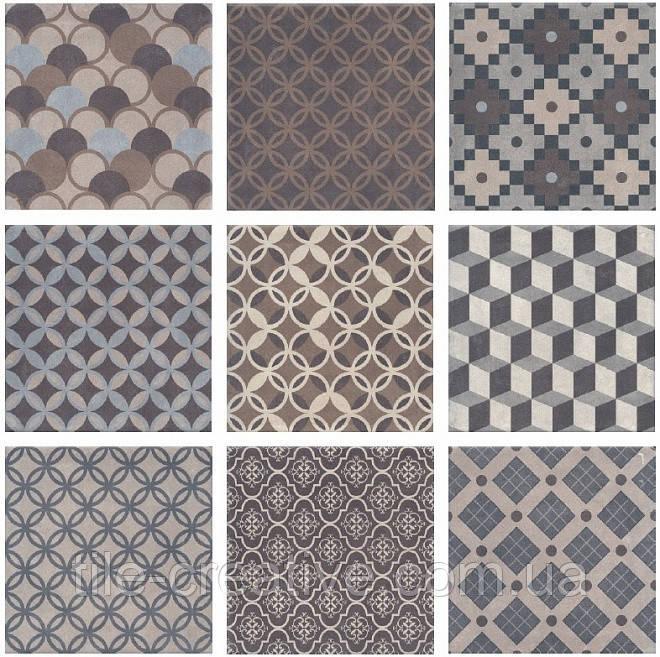 Керамическая плитка Карнаби-стрит орнамент 20х20х8 1577T N