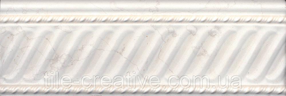 Керамическая плитка Бордюр Белгравия светлый обрезной 30х10х16 BBA001R