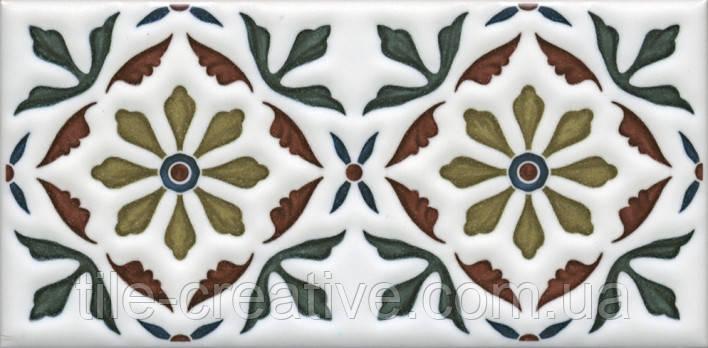 Керамическая плитка Декор Клемансо орнамент 7,4х15х6,9 STG\B618\16000