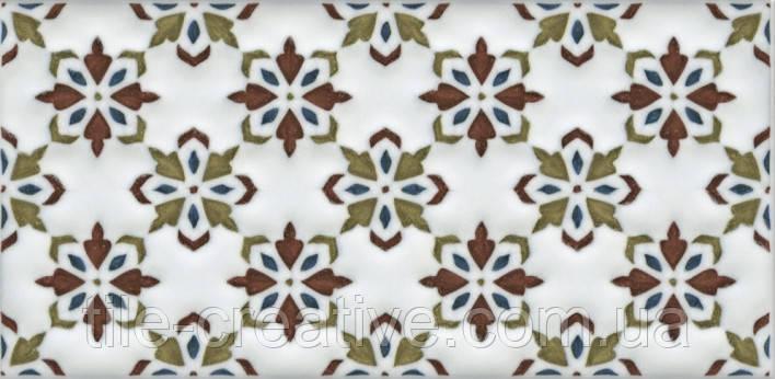 Керамическая плитка Декор Клемансо орнамент 7,4х15х6,9 STG\B619\16000