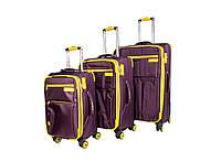 Дорожные чемоданы на 4 колеса three birds