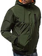 Куртка ветровка мужская весенняя. (Размеры  Л, ХЛ, ХХЛ)  Стильная мужская ветровка зеленая (хаки)