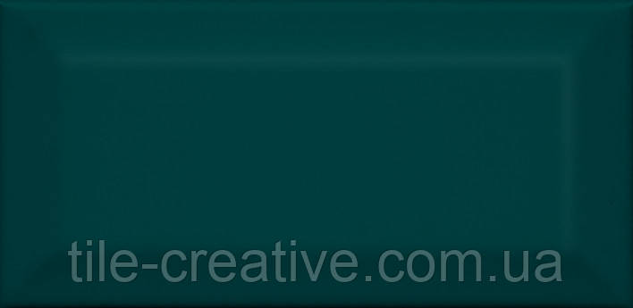 Керамическая плитка Клемансо зеленый темный грань 7,4х15х9,2 16059