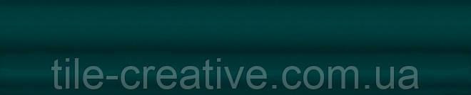 Керамическая плитка Бордюр Багет Клемансо зеленый темный 15х3х16 BLD037