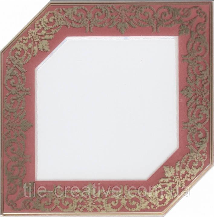 Керамическая плитка Декор Клемансо розовый 15х15х6,9 HGD\B250\18000