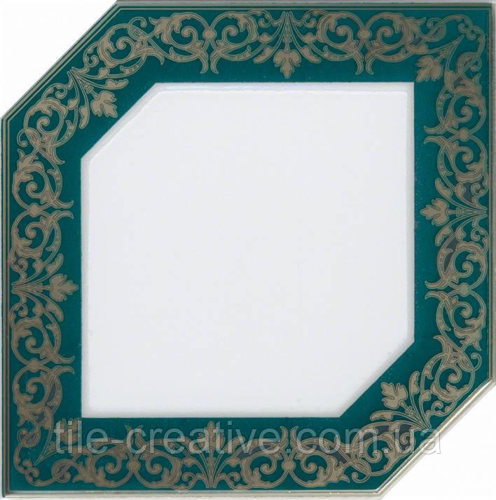 Керамічна плитка Декор Клемансо зелений темний 15х15х6,9 HGD\E250\18000