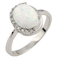 Серебряное кольцо ShineSilver с опалом (0474120) 18 размер