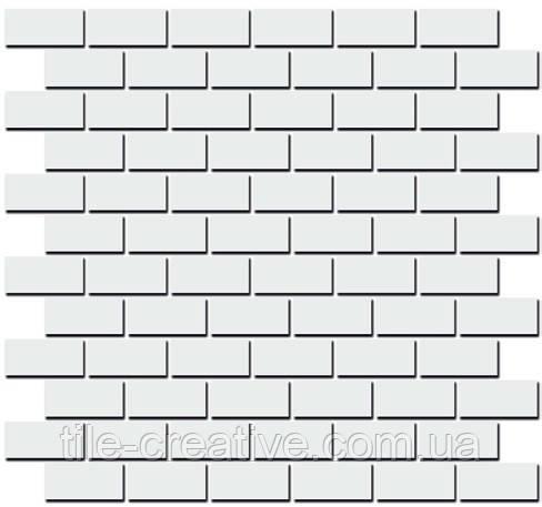 Керамічна плитка Декор Турнон білий матовий мозаїчний 32х30х11 191\001