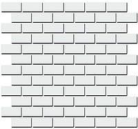 Керамическая плитка Декор Турнон белый матовый мозаичный 32х30х11 191\001