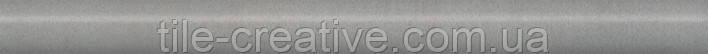 Керамическая плитка Бордюр Марсо серый обрезной 30х2,5х19 SPA020R