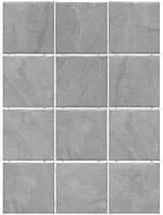 Керамическая плитка Дегре серый, полотно из 12 частей 9,9х9,9х7 1299