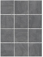 Керамическая плитка Дегре серый темный, полотно из 12 частей 9,9х9,9х7 1300