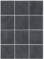 Керамическая плитка Дегре черный, полотно из 12 частей 9,9х9,9х7 1301