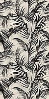 Керамическая плитка Тропикаль листья черный обрезной 30х60х9 11134R