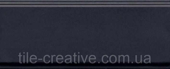 Керамическая плитка Бордюр Тропикаль черный обрезной 30х12х13 BDA013R