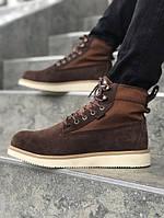 Зимние мужские ботинки Timberland коричневые. Размеры (40,41,42,43,44)