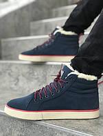 Мужские зимние ботинки на меху Adidas Runsom Fur Blue. Размеры (40,41,42,43,44,45), фото 1