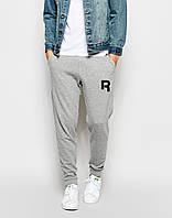 Мужские спортивные штаны в стиле REEBOK | РИБОК серые