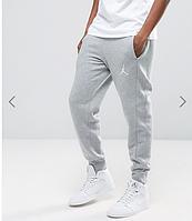 Мужские спортивные штаны серые в стиле Jordan | Джордан Спортивные ( Белый принт )